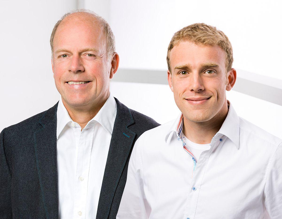 Portrait der Geschäftsführer Ulf Baum und Christopher Klett